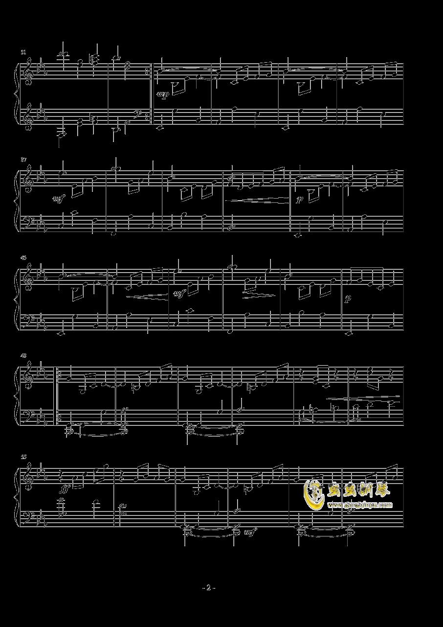 浪漫圆舞曲钢琴谱 第2页