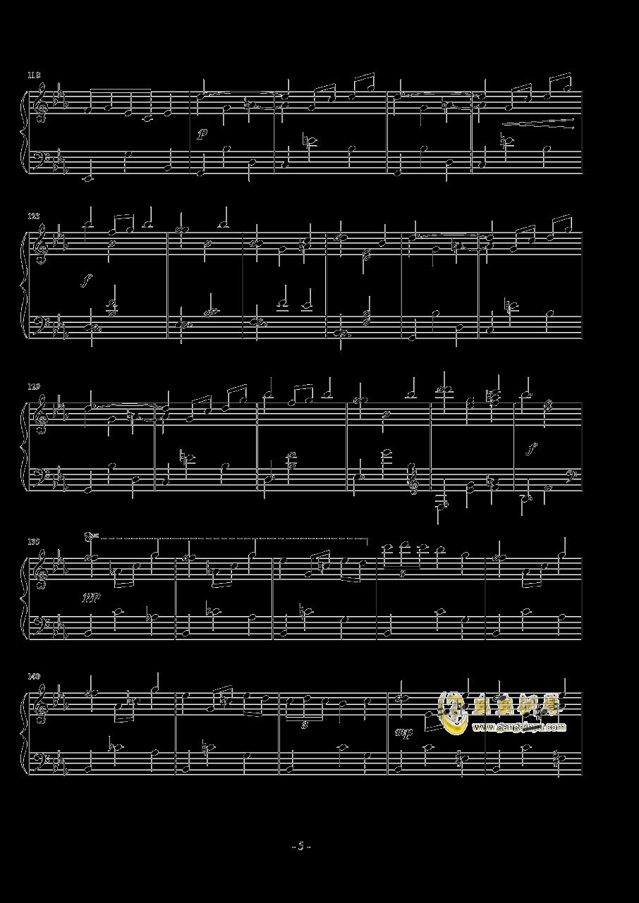 浪漫圆舞曲钢琴谱 第5页