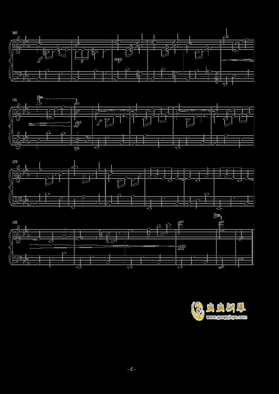 浪漫圆舞曲钢琴谱 第6页
