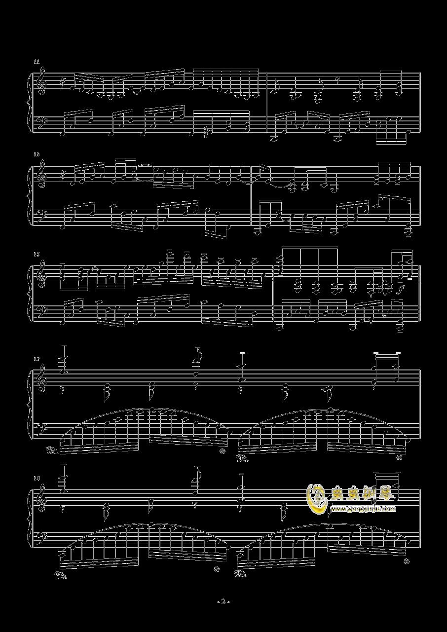 日出钢琴谱 第2页
