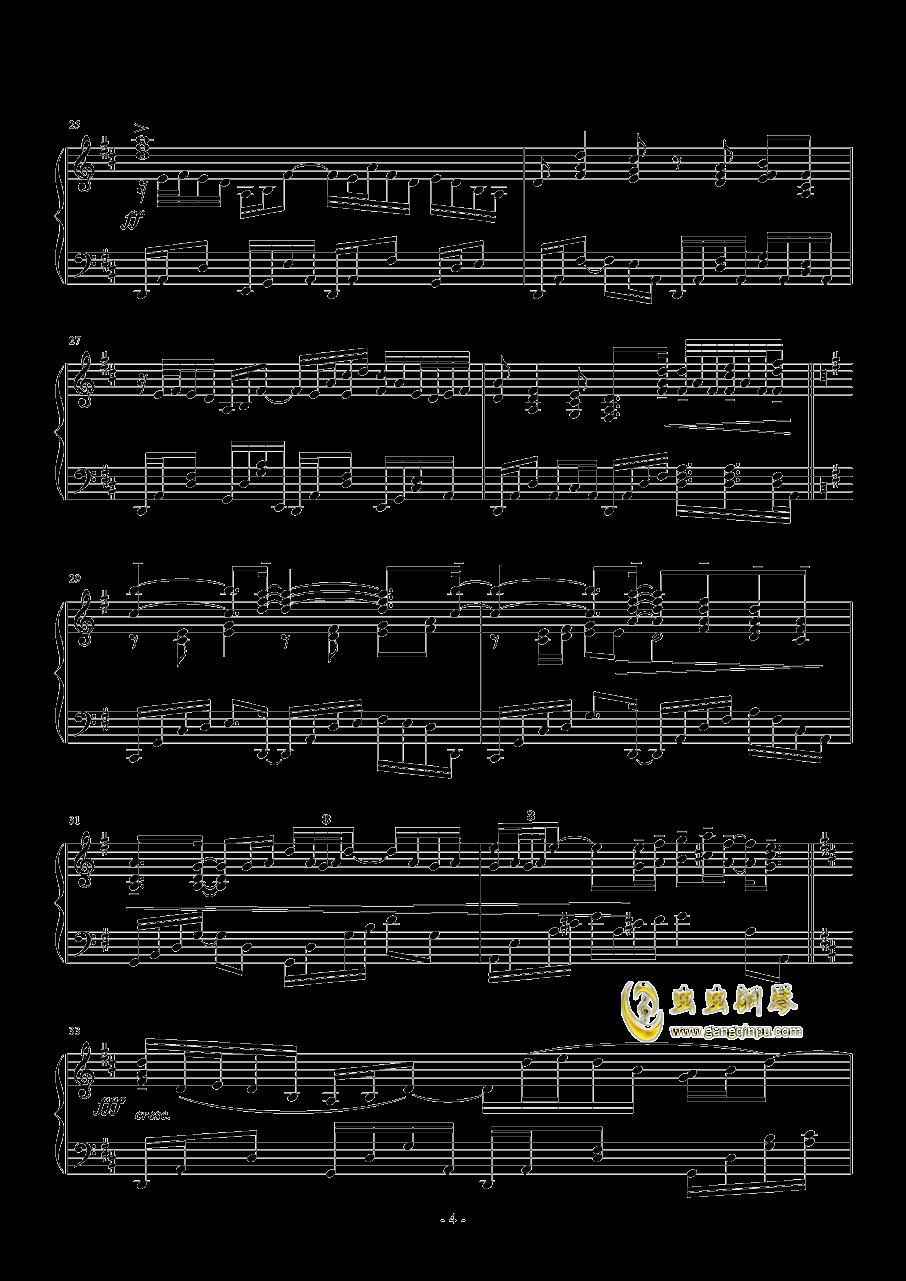 日出钢琴谱 第4页
