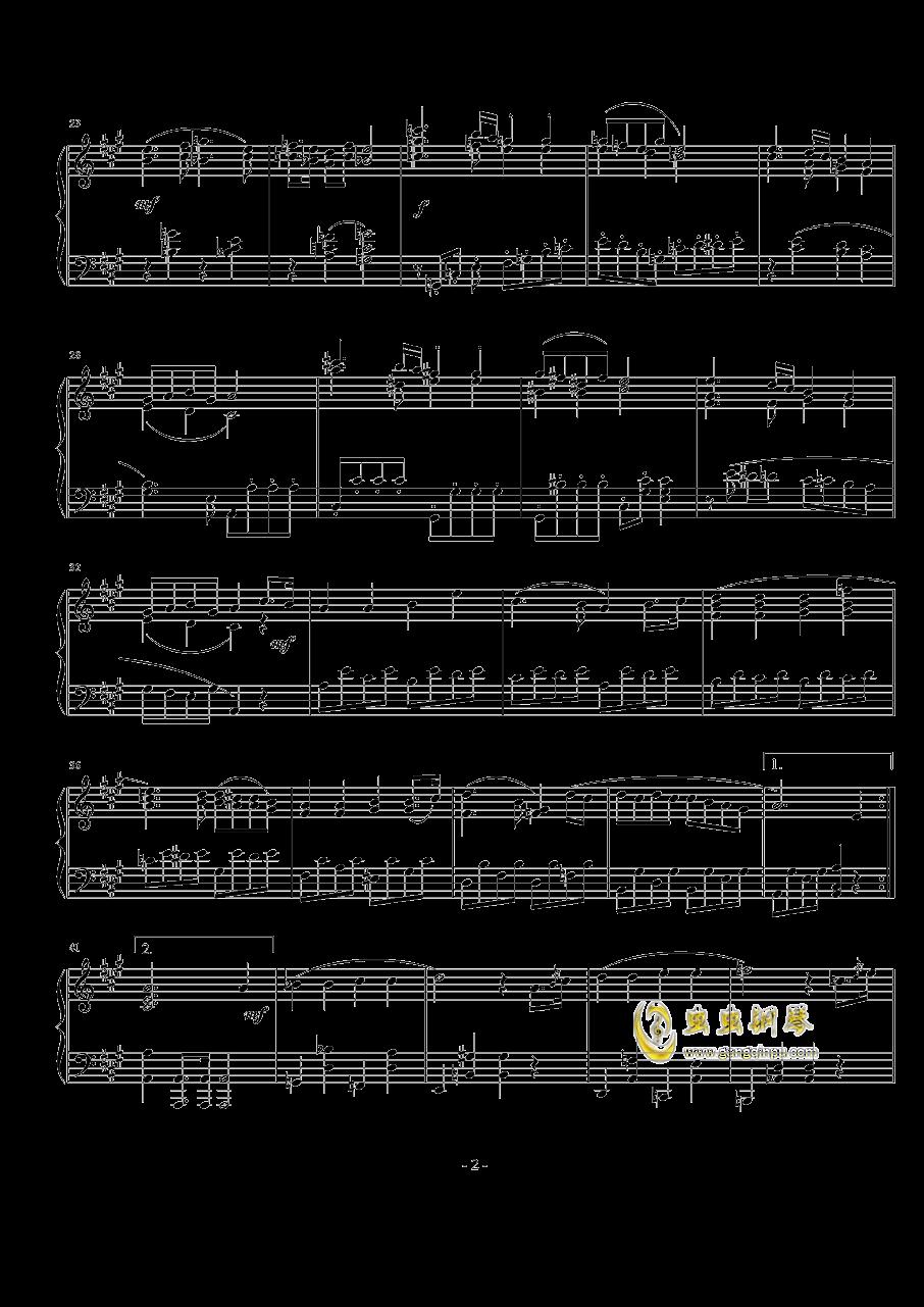 A大调奏鸣曲第一乐章钢琴谱 第2页