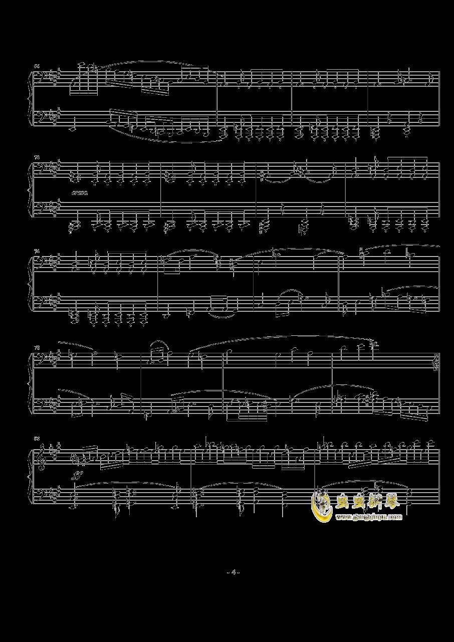 A大调奏鸣曲第一乐章钢琴谱 第4页