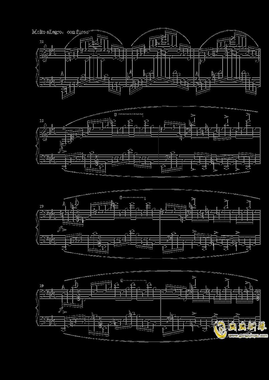 """肖邦练习曲""""大海"""" Op.25 No.12钢琴谱 第2页"""