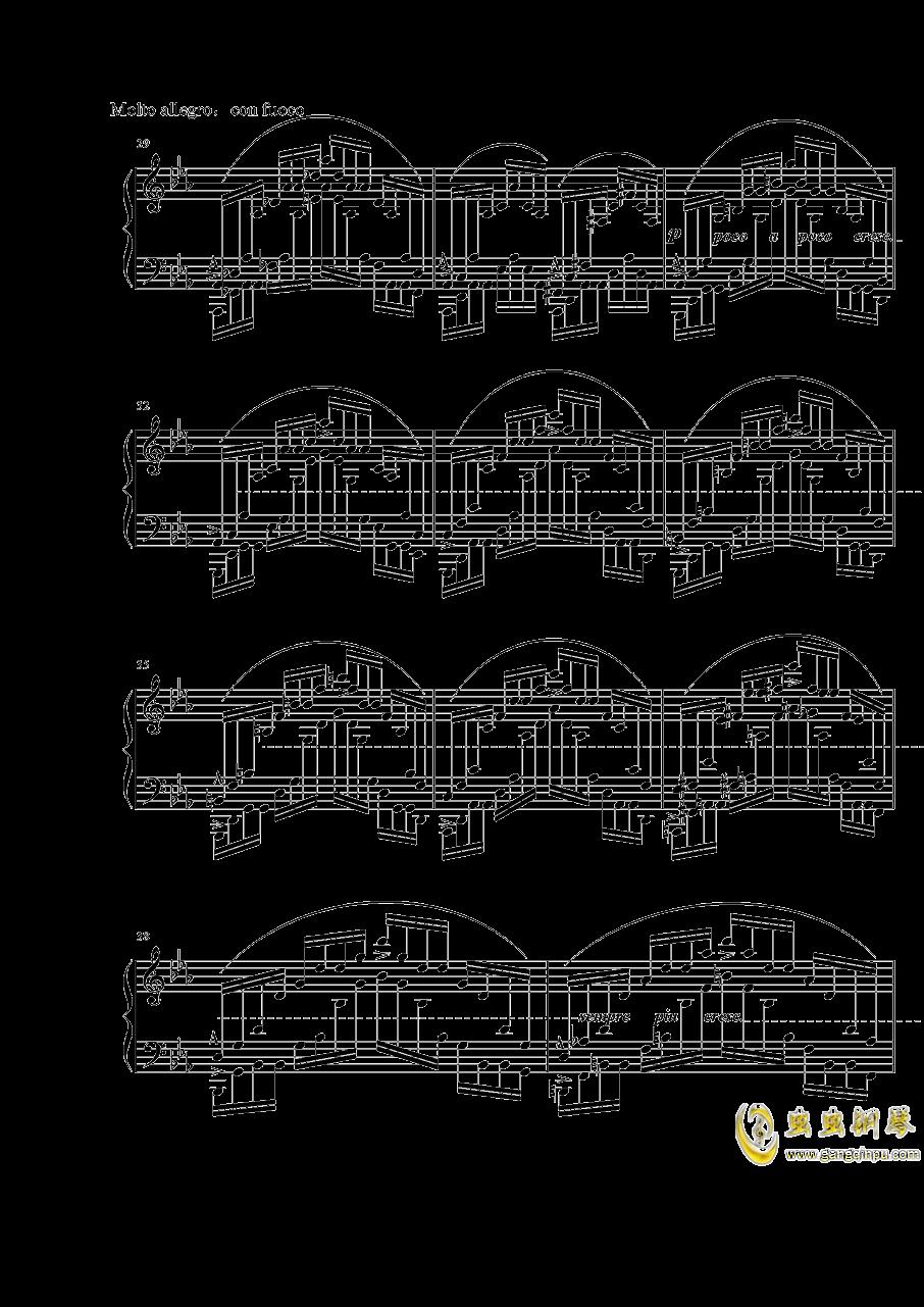 """肖邦练习曲""""大海"""" Op.25 No.12钢琴谱 第4页"""