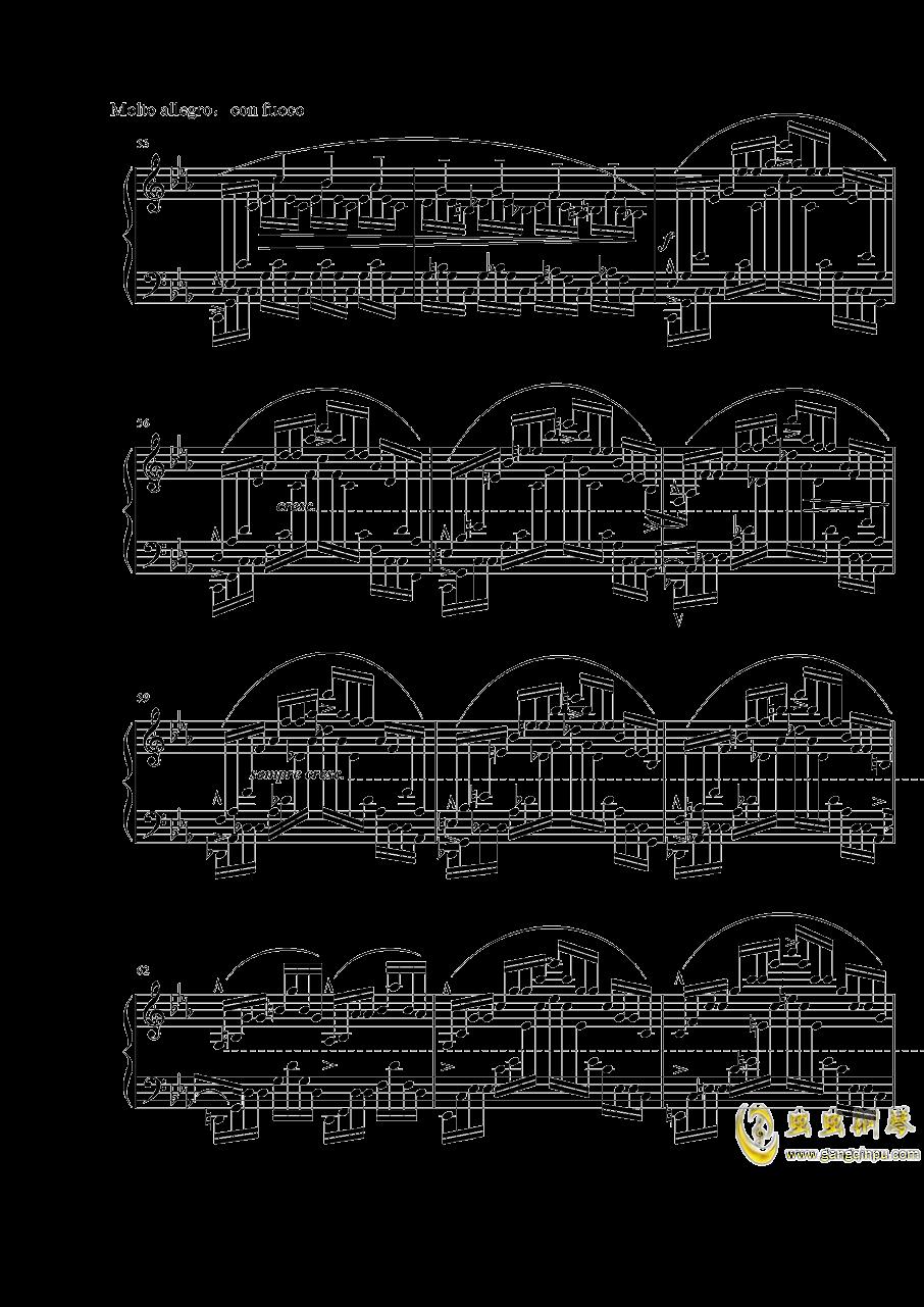 """肖邦练习曲""""大海"""" Op.25 No.12钢琴谱 第6页"""
