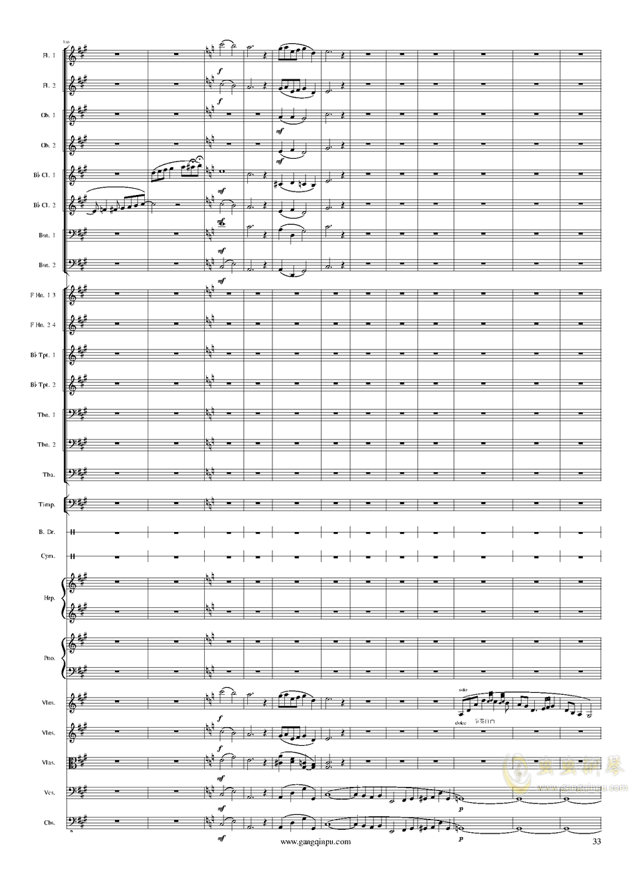 Piano Concerto No.6 in sharp F Minor Op.57 III.钢琴谱 第33页