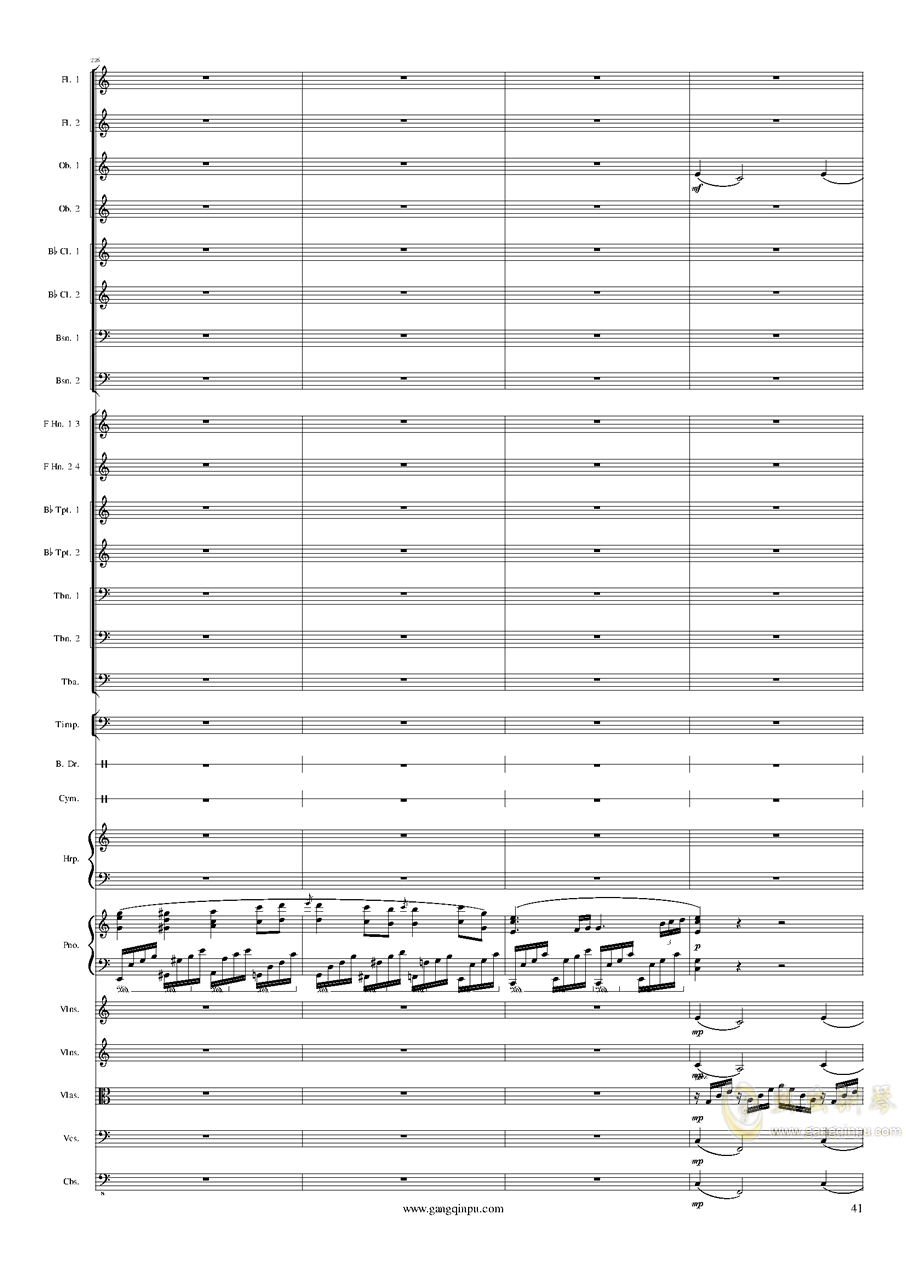 Piano Concerto No.6 in sharp F Minor Op.57 III.钢琴谱 第41页