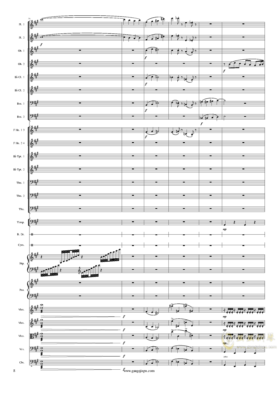 Piano Concerto No.6 in sharp F Minor Op.57 III.钢琴谱 第8页
