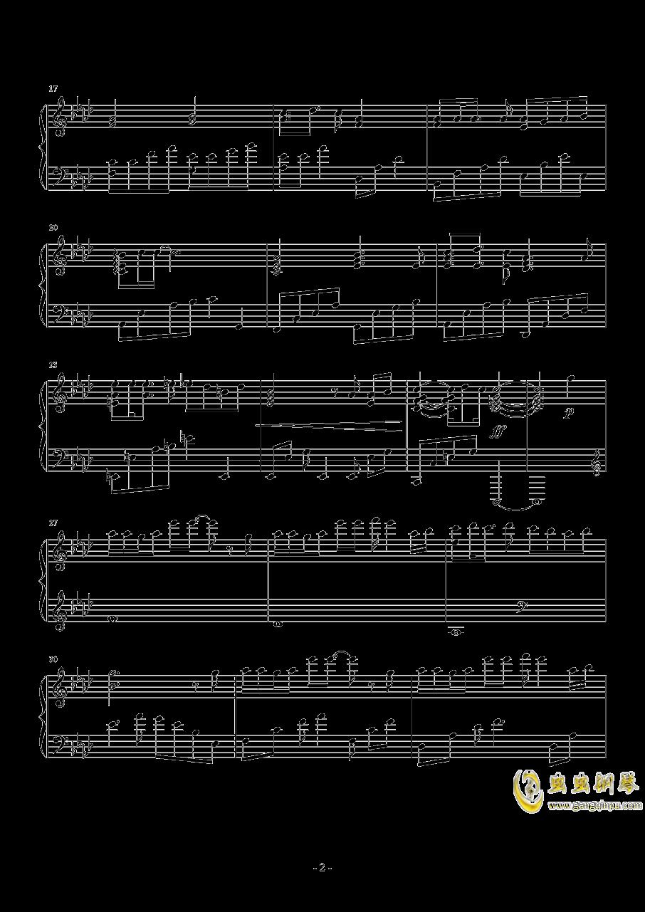Weight Of The World钢琴谱 第2页