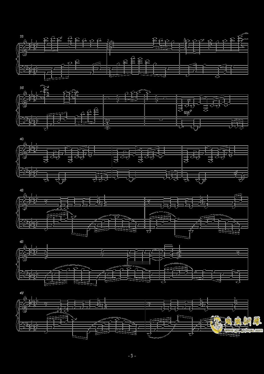 Weight Of The World钢琴谱 第3页