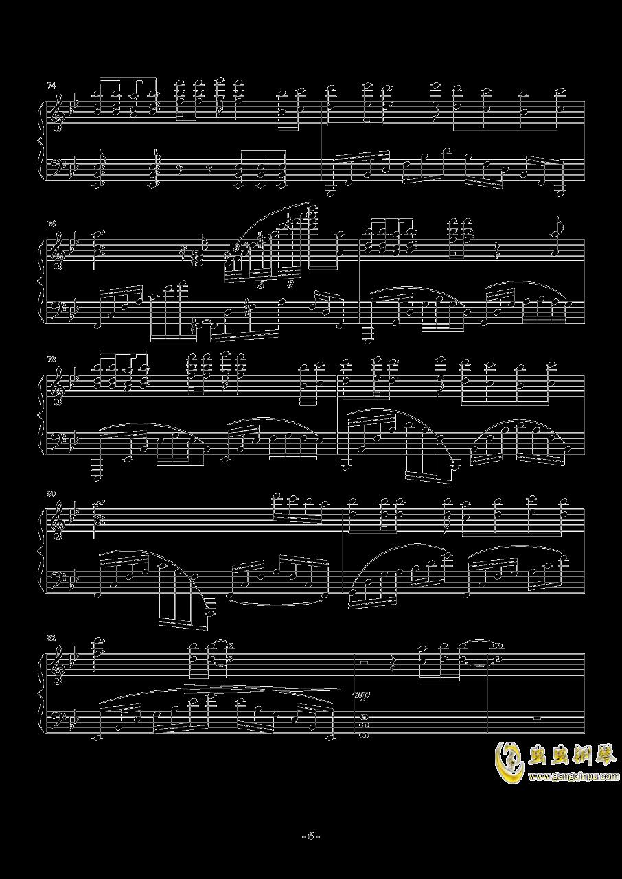 Weight Of The World钢琴谱 第6页