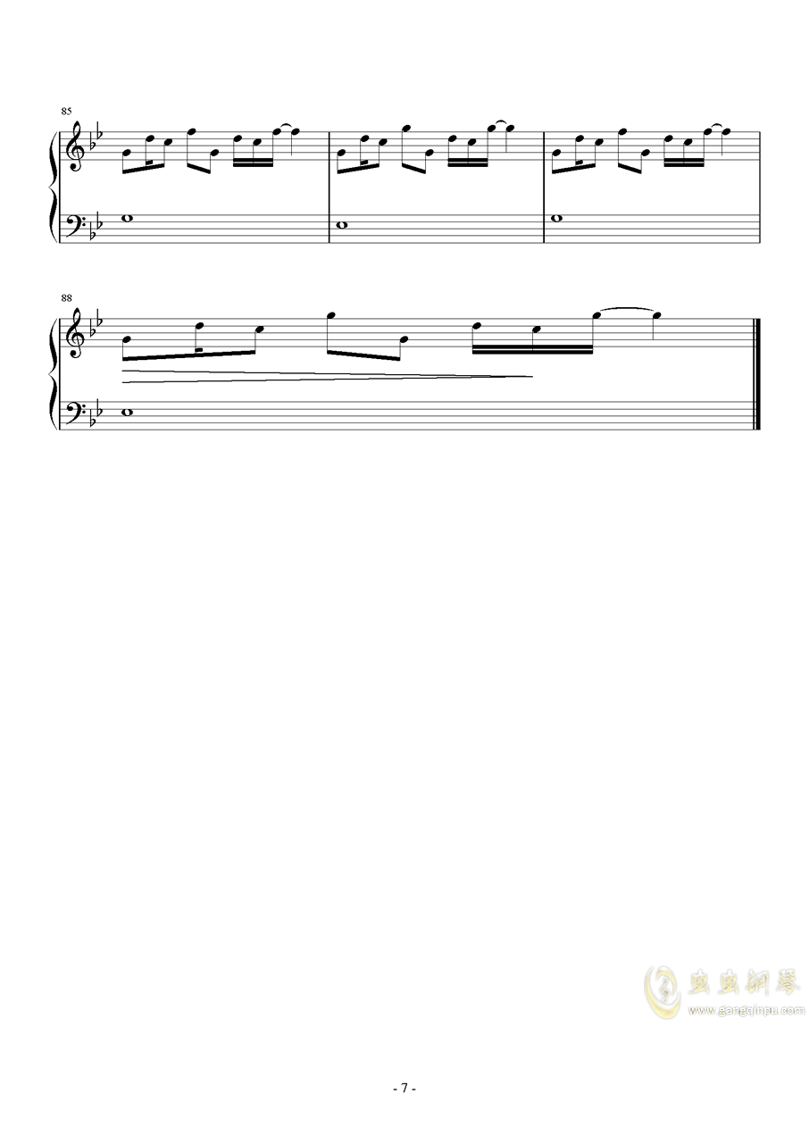 Weight Of The World钢琴谱 第7页