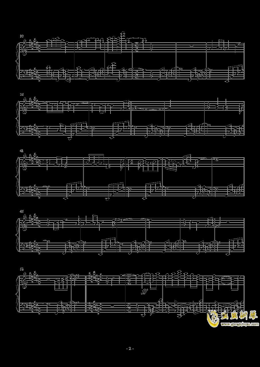 永不凋零的彼岸花钢琴谱 第2页