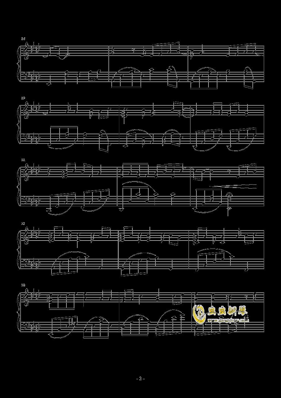 应许之心钢琴谱 第2页