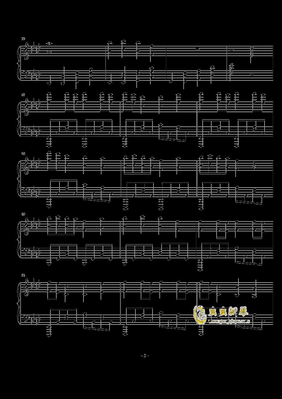 TheFatRat-no no no钢琴谱 第5页