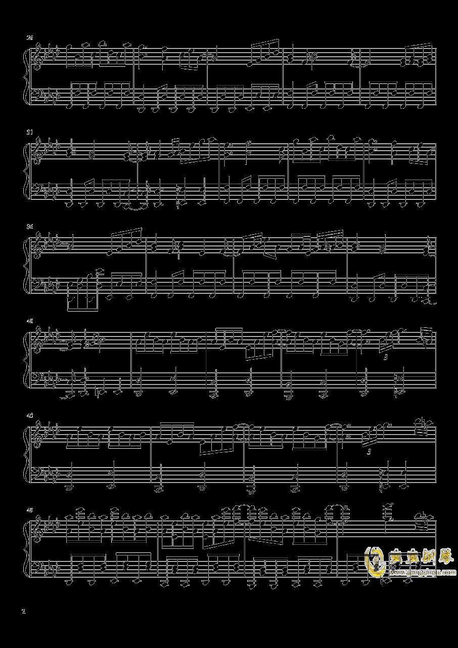 死霊の夜桜钢琴谱 第2页