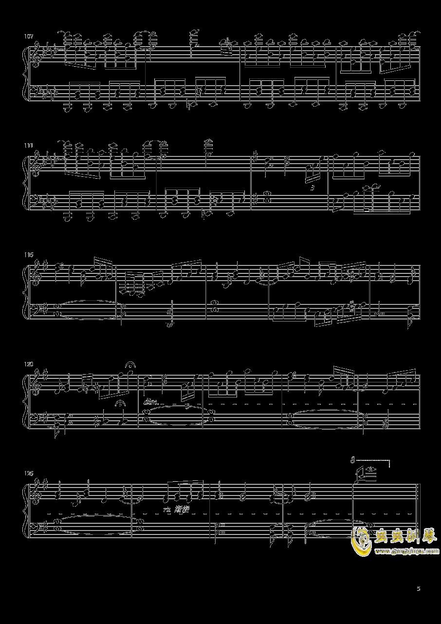 死霊の夜桜钢琴谱 第5页