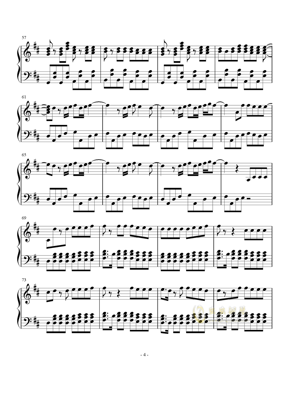 Something just like this钢琴谱 第4页