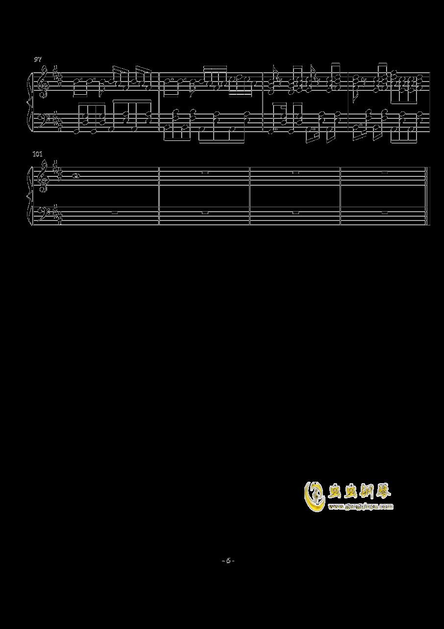 Something just like this钢琴谱 第6页