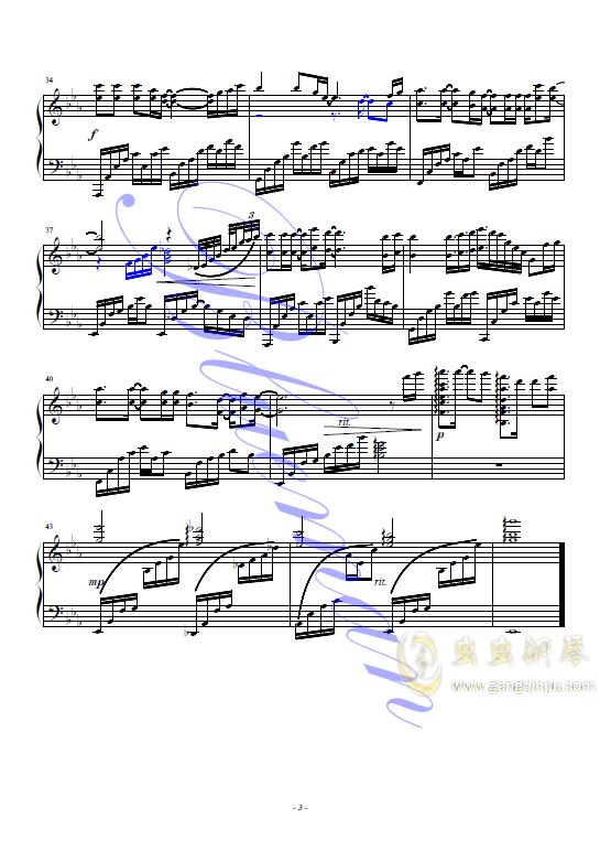 梨花又开放钢琴谱 第3页