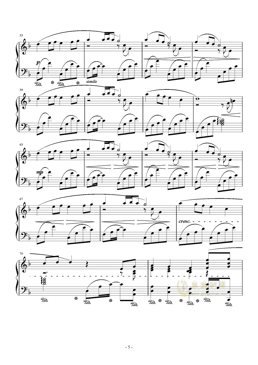 素�长坤� Orchestra Version钢琴谱 第5页