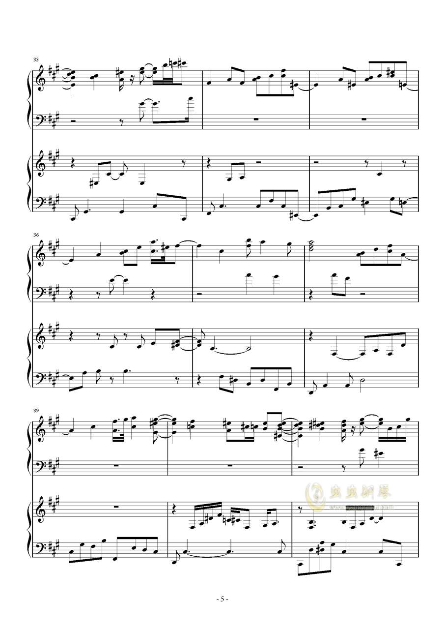 被秘匿的四季钢琴谱 第5页
