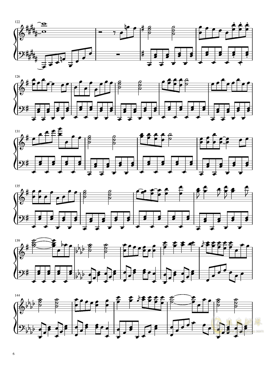 Phantom Ensemble钢琴谱 第6页