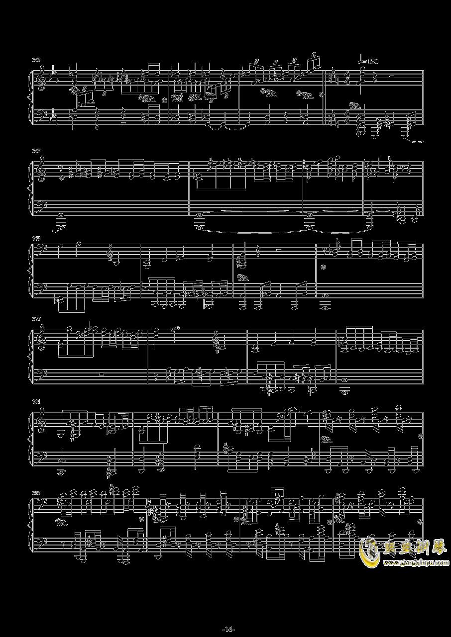 第二钢琴协奏曲第三乐章钢琴谱 第16页