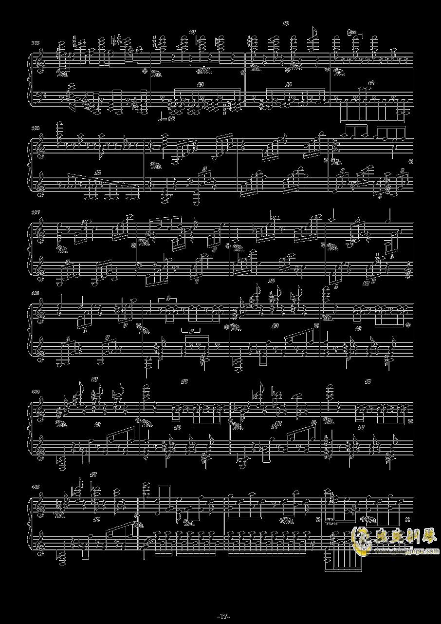 第二钢琴协奏曲第三乐章钢琴谱 第17页