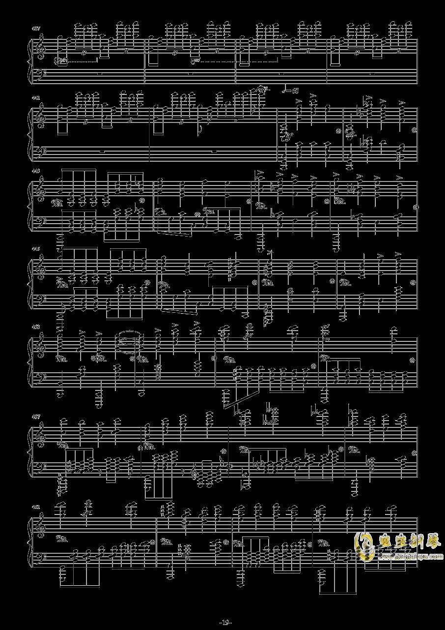 第二钢琴协奏曲第三乐章钢琴谱 第19页