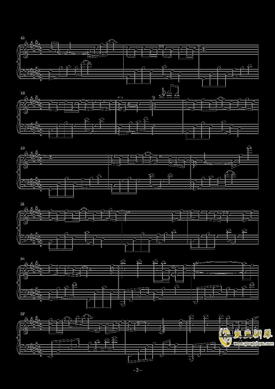 岁月钢琴谱 第2页