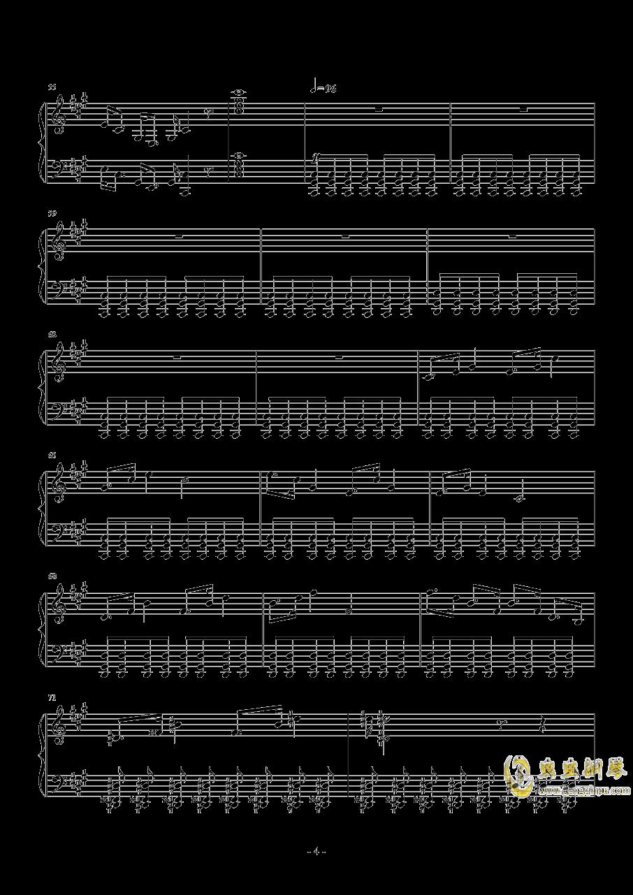 黄昏回旋曲 Op.1钢琴谱 第4页