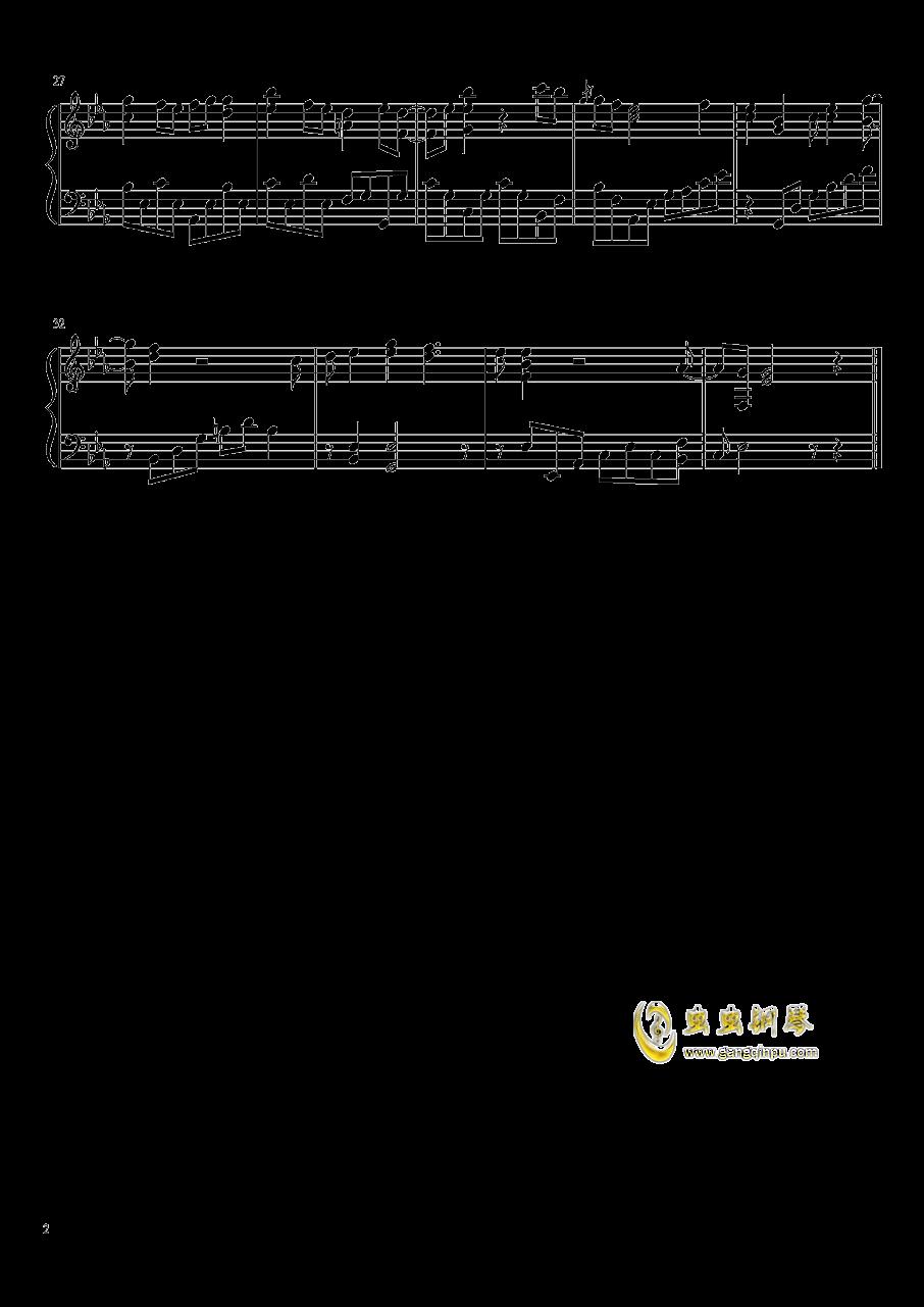 夕山谣钢琴谱 第2页