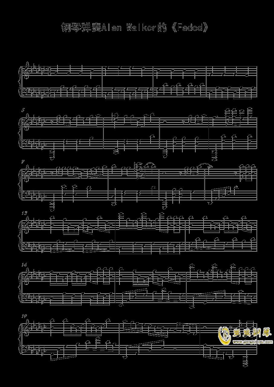 Alan Walker钢琴谱 第1页