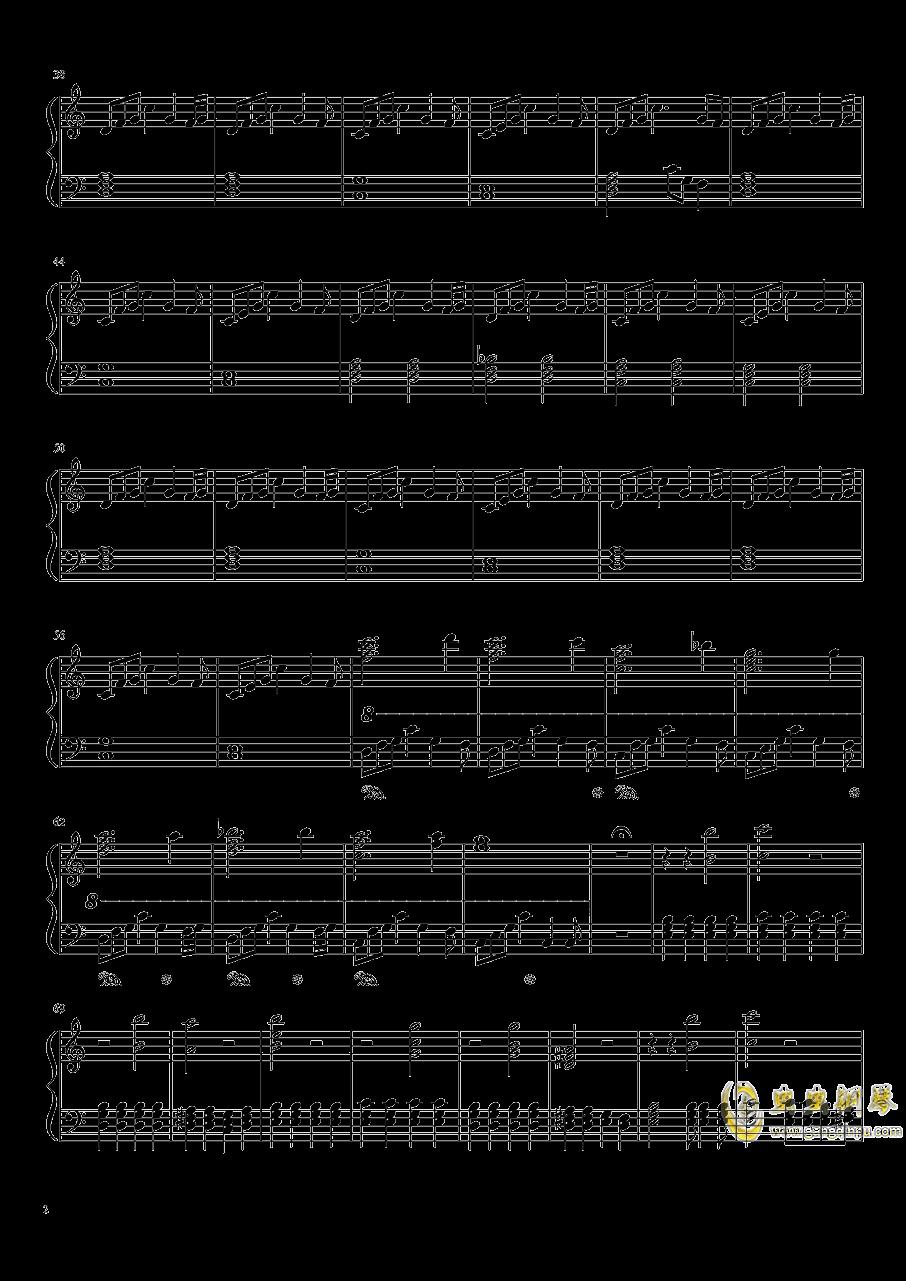 还在这里钢琴谱 第2页