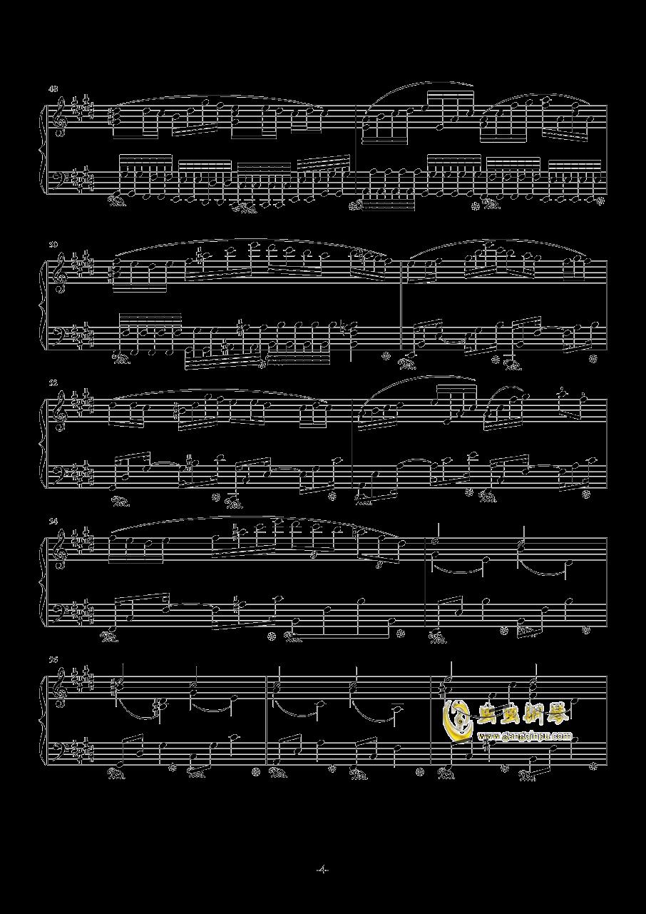 H25-E大调主题变奏曲钢琴谱 第4页