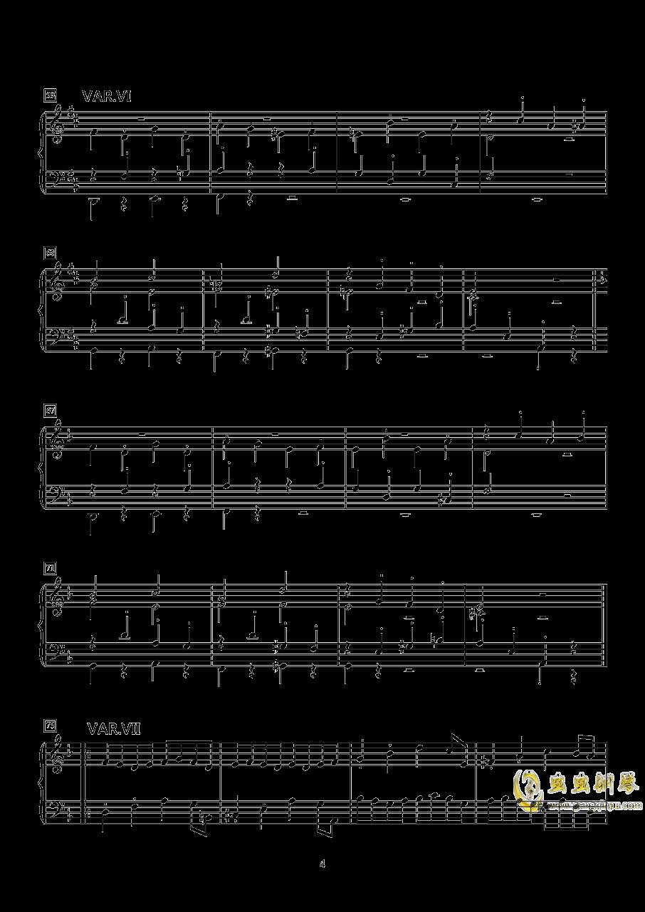 小快板与变奏钢琴谱 第4页