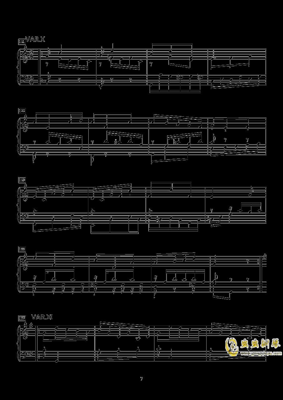小快板与变奏钢琴谱 第7页
