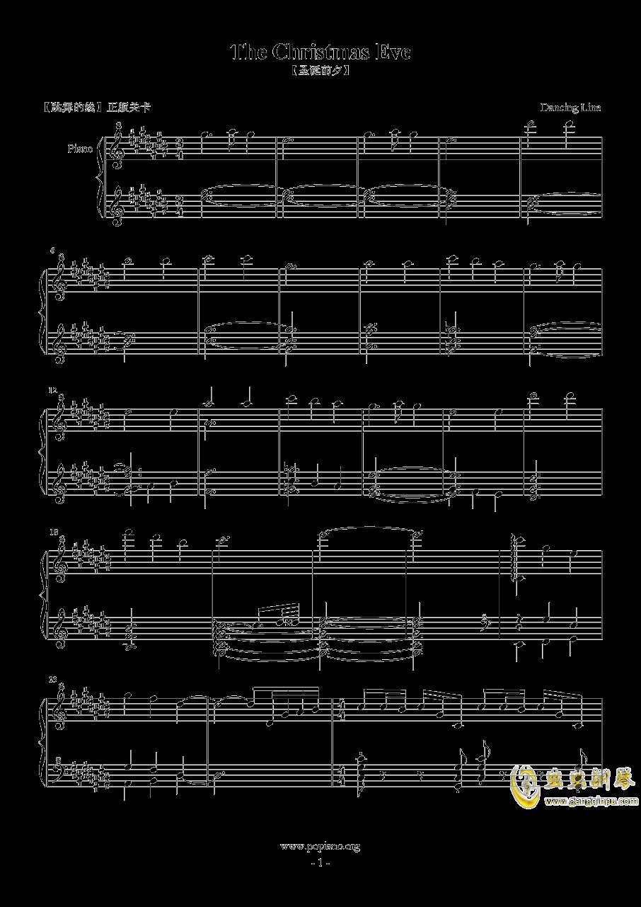 跳舞的线 圣诞前夕 The Christmas Eve钢琴谱 第1页