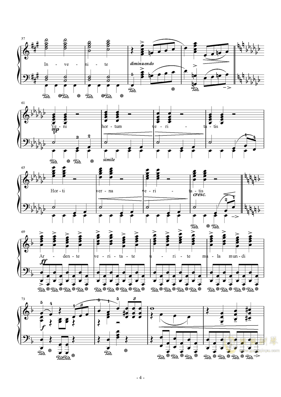 Liberi Fatali Orchestra Version钢琴谱 第4页