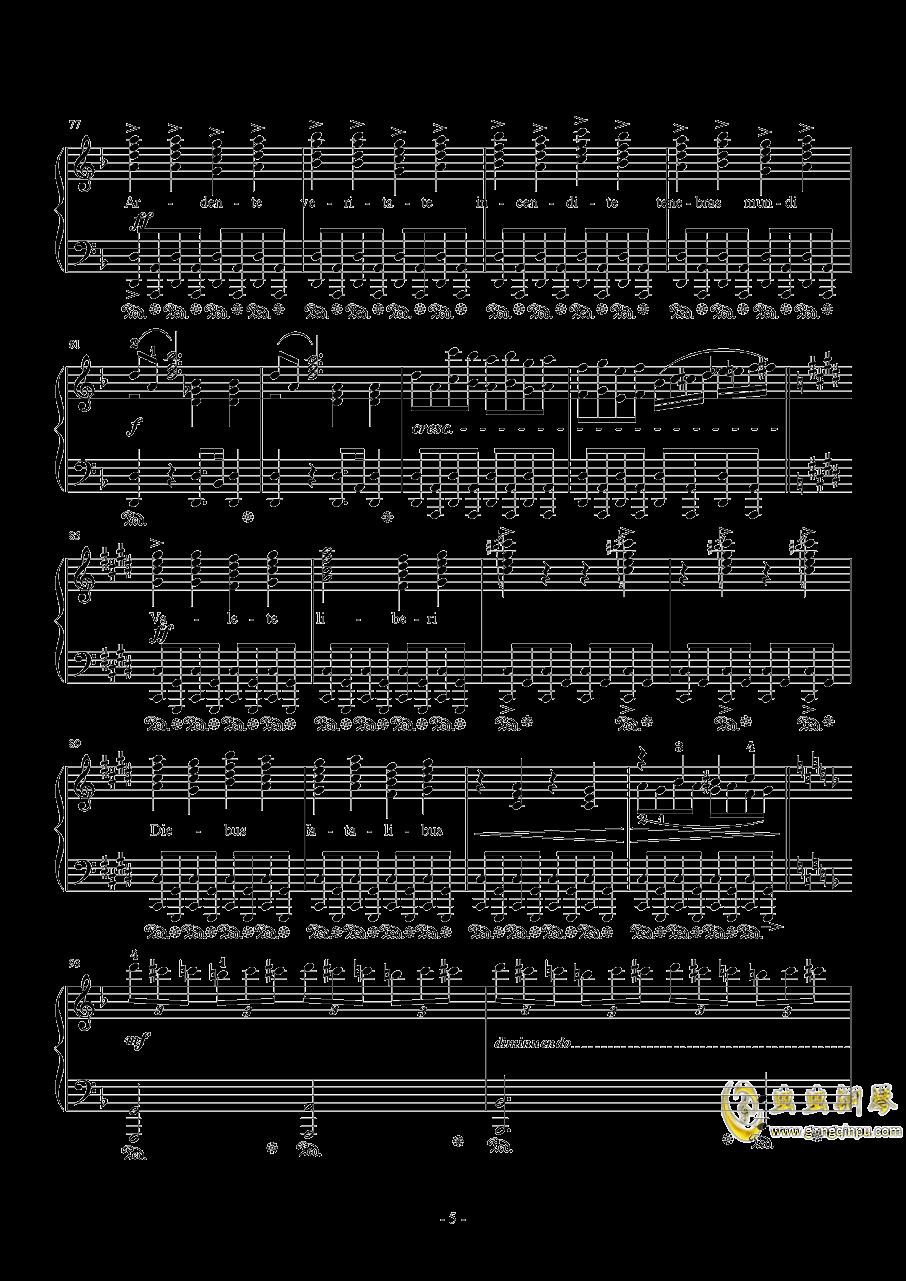 Liberi Fatali Orchestra Version钢琴谱 第5页