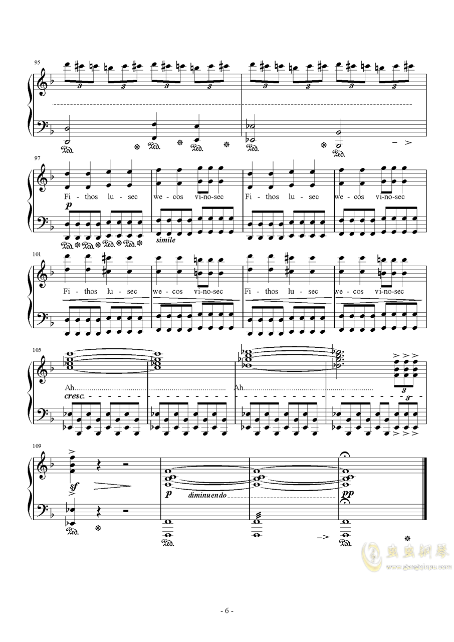 Liberi Fatali Orchestra Version钢琴谱 第6页