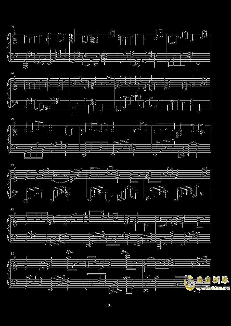 哀怨的��白钢琴谱 第2页
