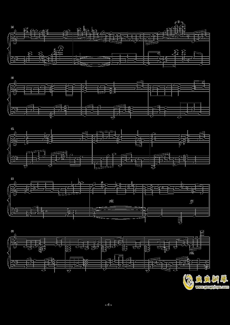 哀怨的��白钢琴谱 第4页