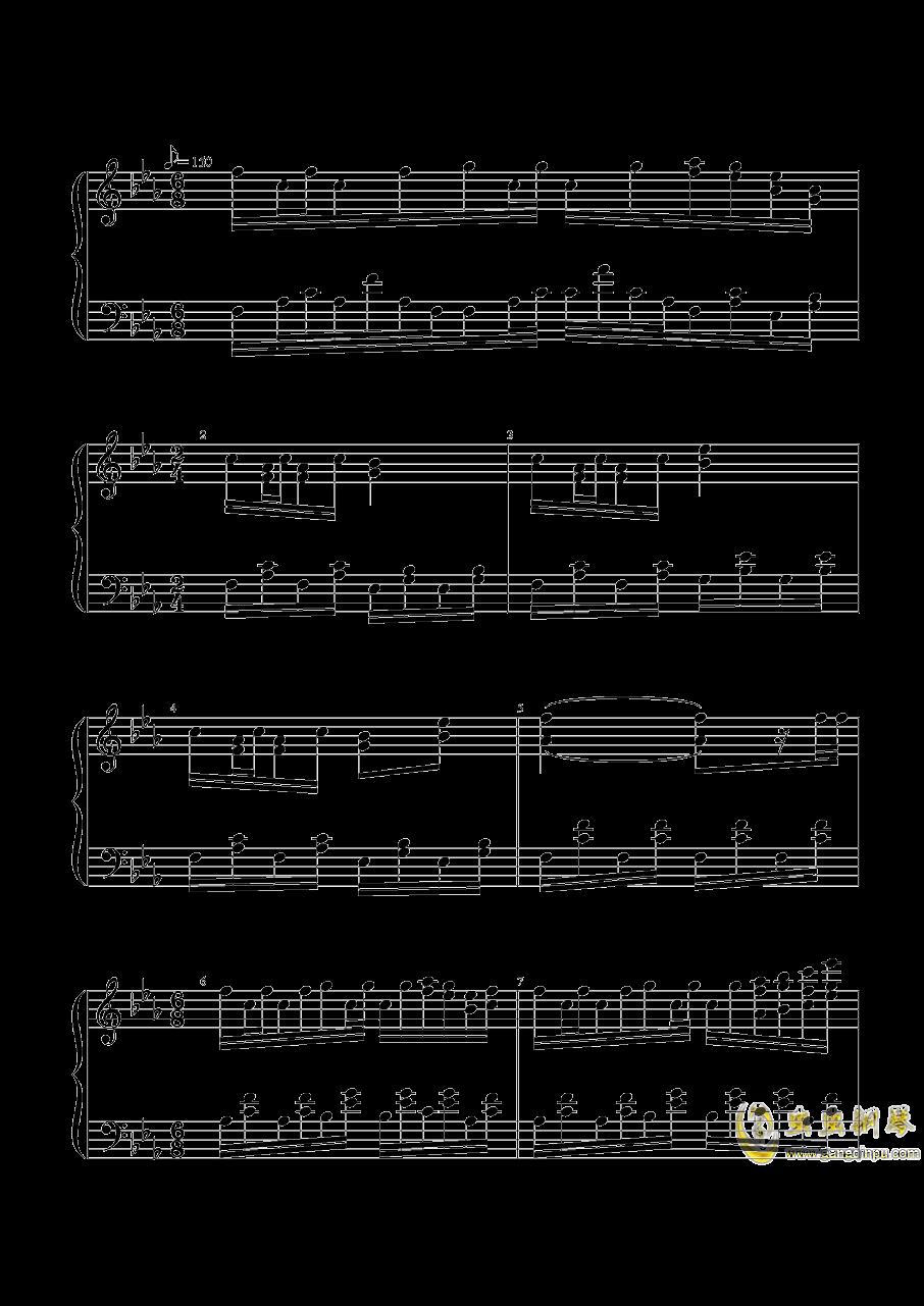 宇佐大人的白旗钢琴谱 第1页