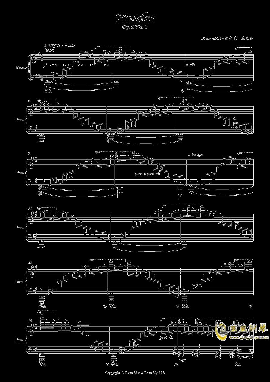 Etudes Op. 2 No. 1钢琴谱 第1页