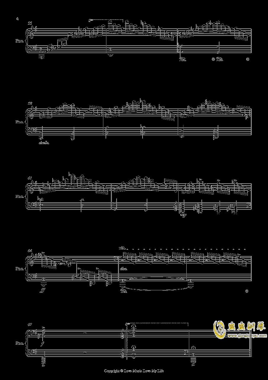 Etudes Op. 2 No. 1钢琴谱 第4页