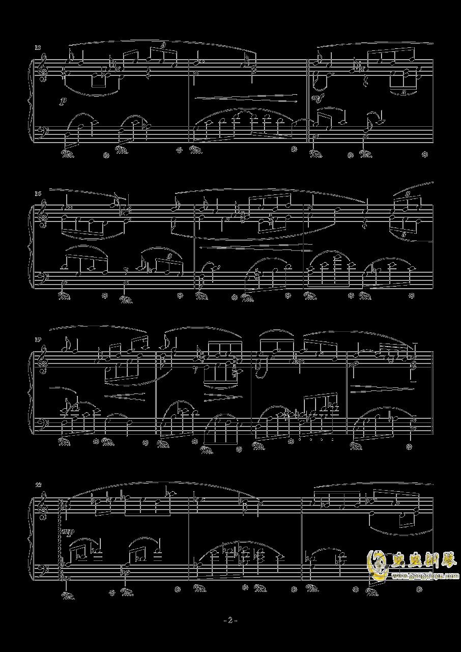 白色回忆钢琴谱 第2页