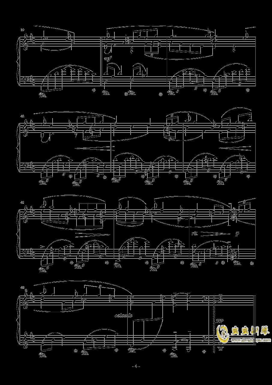 白色回忆钢琴谱 第4页